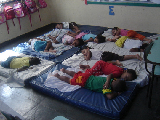 Naptime at the creche