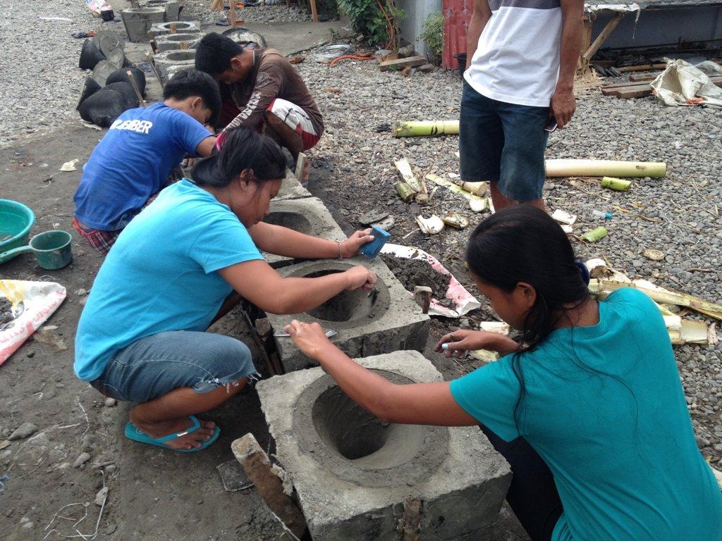Toilet bowl making in Leyte