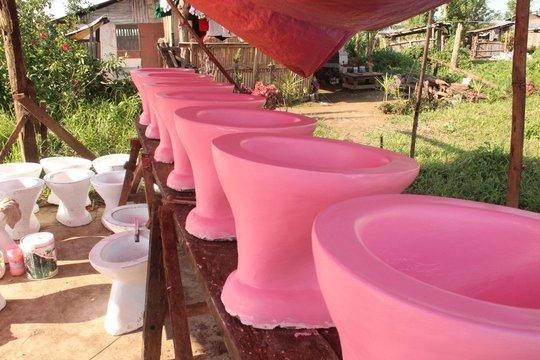 fabricating toilet bowls