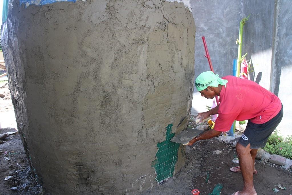 Rainwater harvester construction