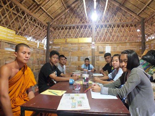 Burmese class at Koung Jor refugee camp