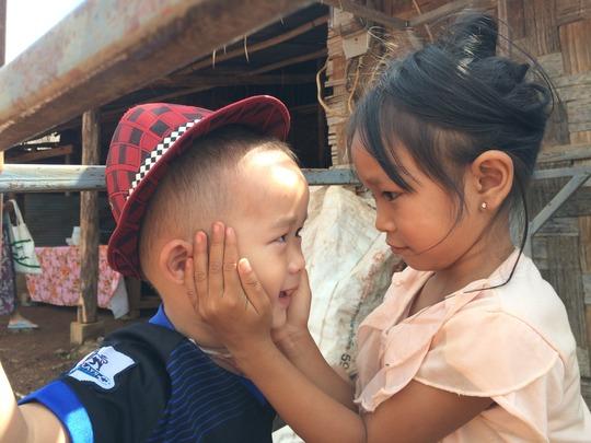Children playing at Koung Jor refugee camp