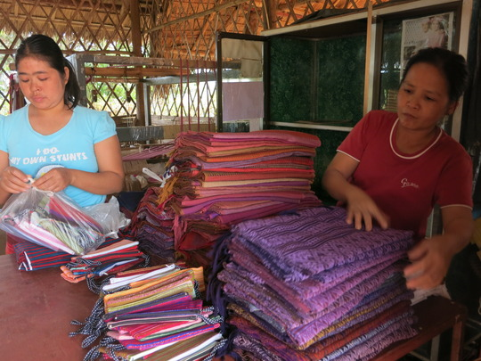 TBF supports vocational training such as weaving