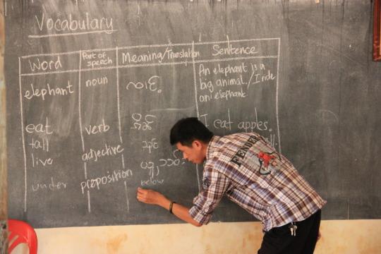 The teachers practice new activities