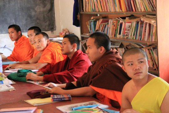 Local monks learning English