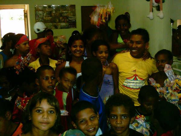 Children Receiving Presents