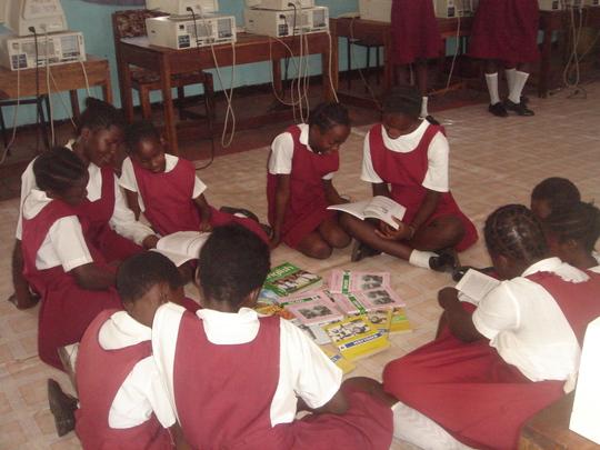 Reading Circle at Imwiko Secondary School