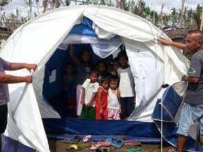 Children enjoying their tent need more please