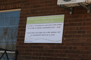 The board outside Soetwater Clinic