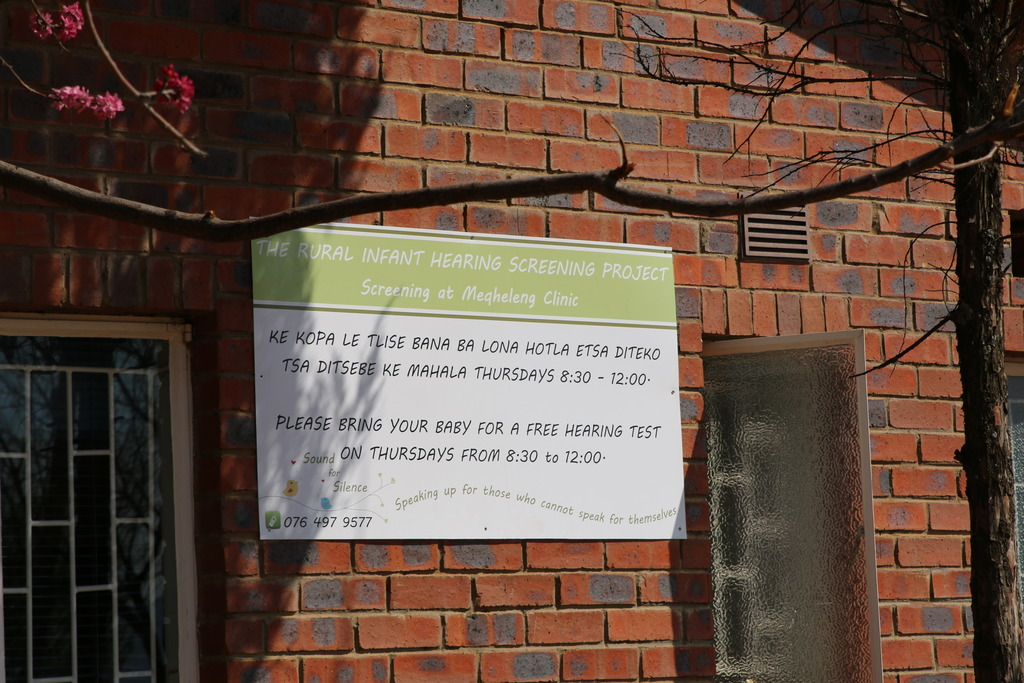 The board outside Meqheleng Clinic