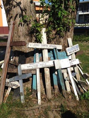 Mass Gravesite at Tacloban Cathedral