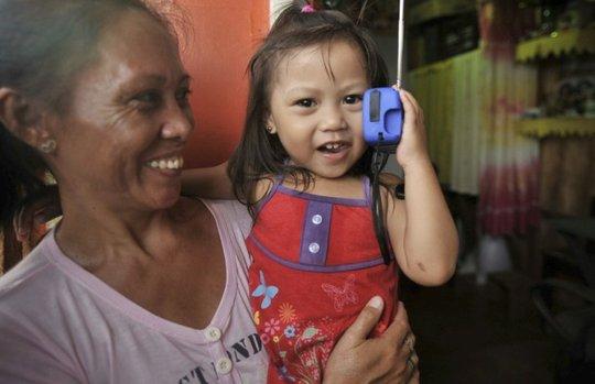 A happy user of the Polaris radio/light!