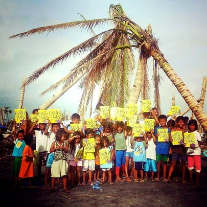 The books with kids from Tacloban, Leyte