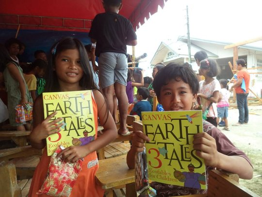 The books with kids from the island of Bohol