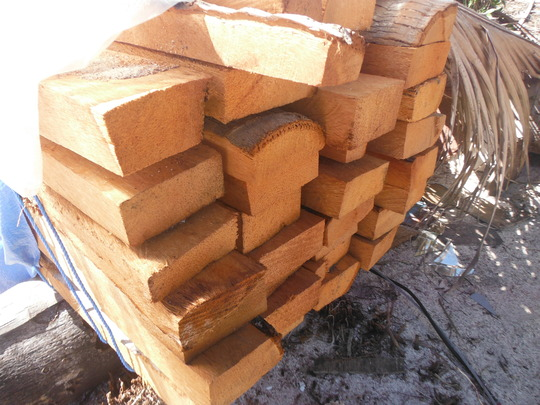 Limestone bamboo coconut lumber... raw materials