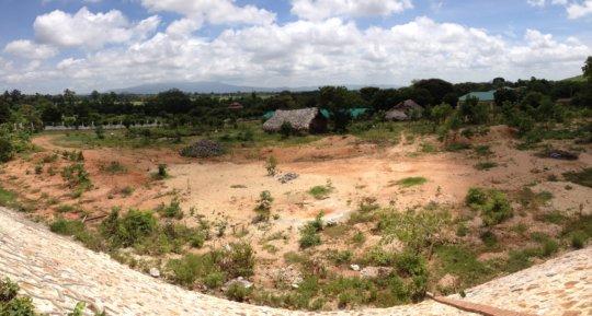 View of Mt Poppa from Shwenadi Training Center