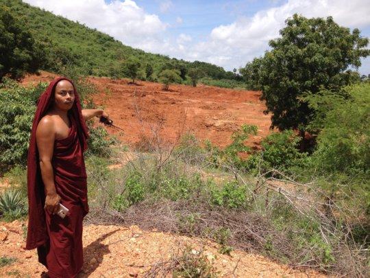 Head monk of Shwenadi changing to eco monastery