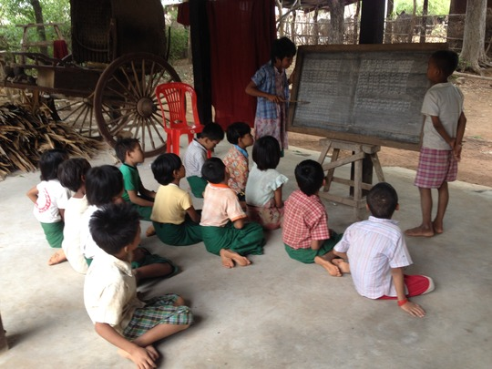 Traditional Monastic classroom in Dry Zone Myanmar