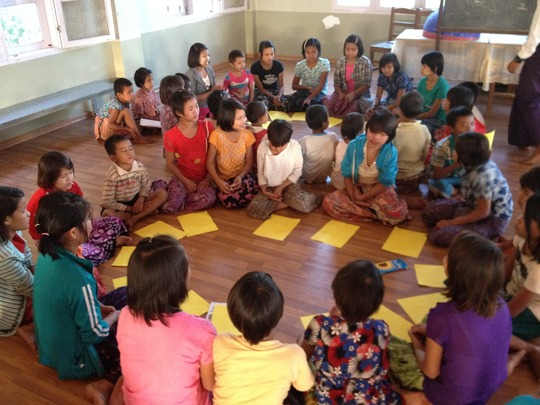 Drawing your dreams with ethnic Palaung children
