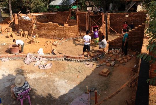 Earthen building kindergarten in Kachin State
