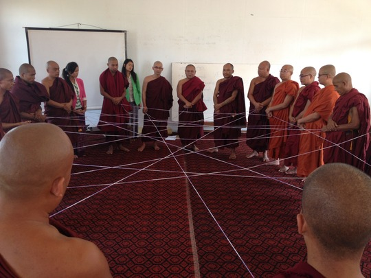 Team building and networking with Buddhist monks