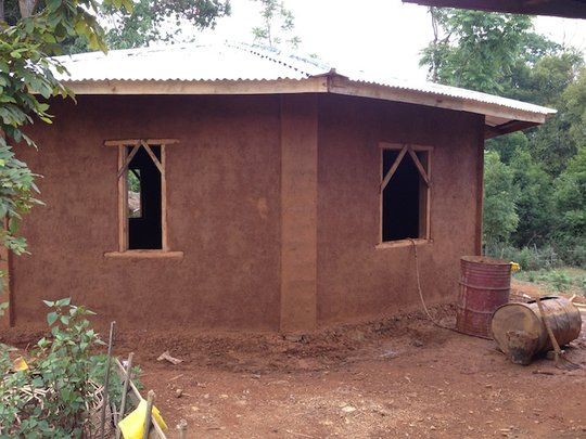 First mud house classroom