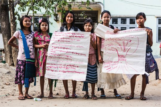 Launch the first By-Girls, For Girls Mag in Burma!