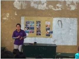 A community hygiene awareness session