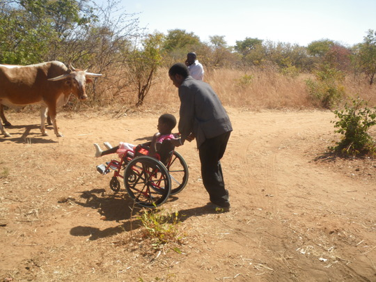 Delivery of wheelchairs to rural communities