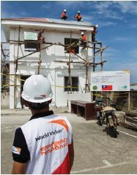 Rebuilding health center in Ormoc