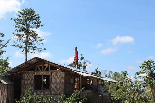 He's repairing his roof, thanks to you!