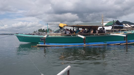The boat's size means it can fish in deeper water