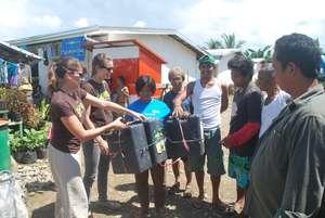 Garden materials distribution