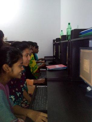 Computer course in progress