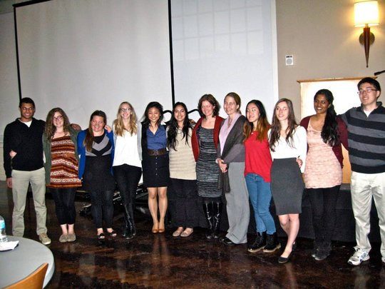 Executive Members with Dr. Louise Ivers