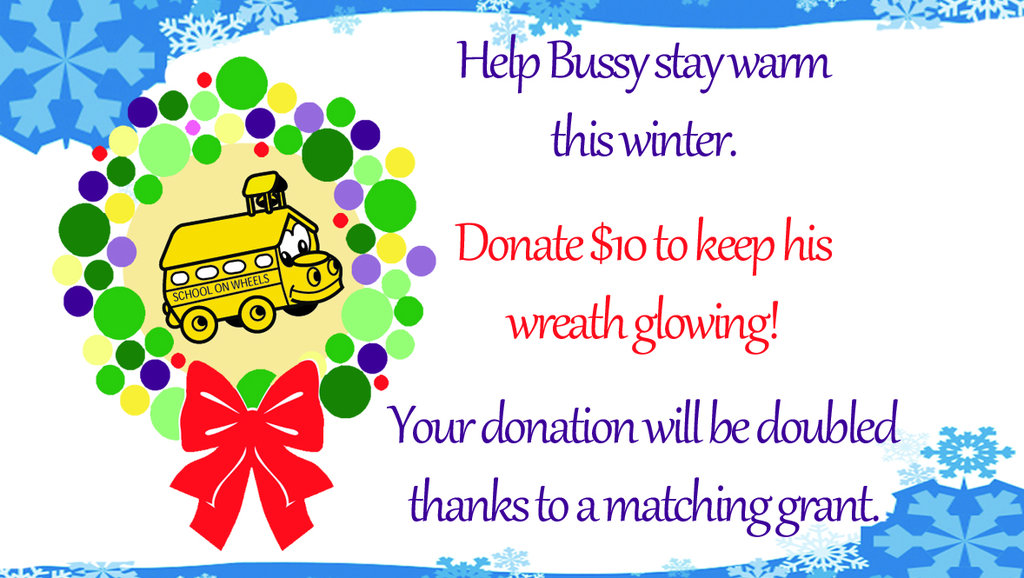Keep Bussy warm this winter! Let's raise $5000!