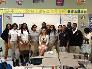 a guest speaker in the NFTE classroom