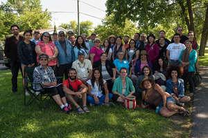 Participants at Mohawk/Kanienkeha'ka territory