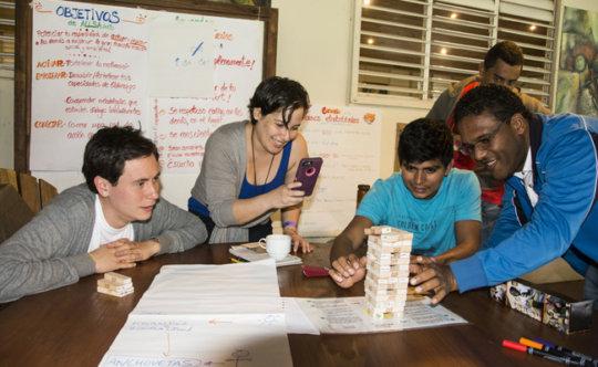 ALLSA participant Daniela leads creative prelude