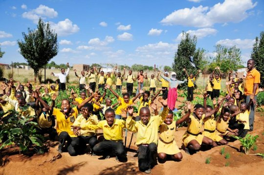 Growing food gardens to feed hungry children
