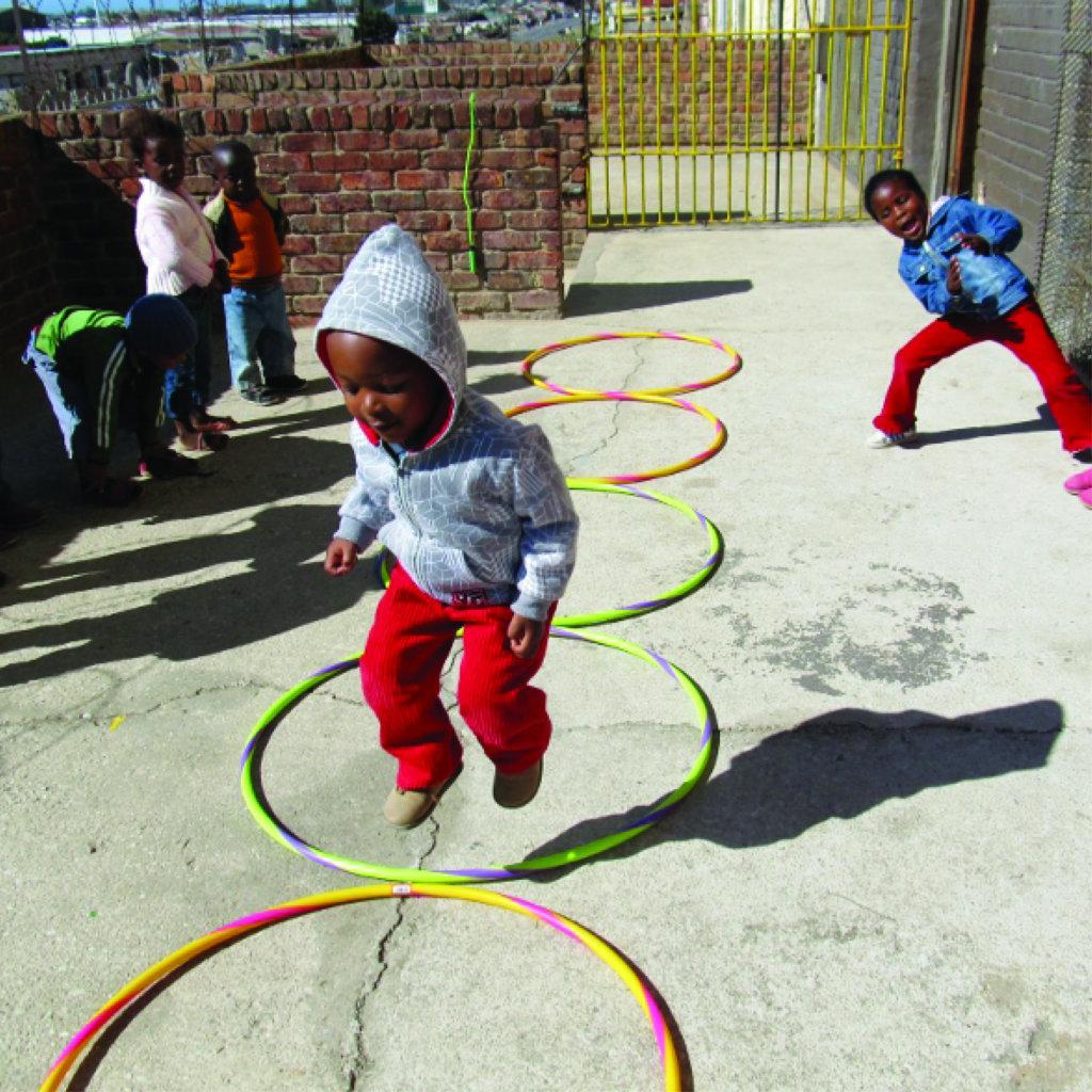 A little boy playing