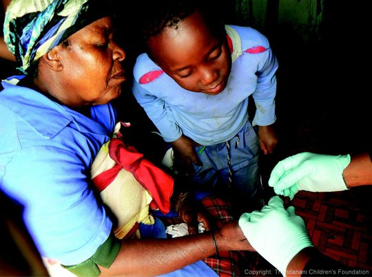 Wellness Wagon providing healthcare to children
