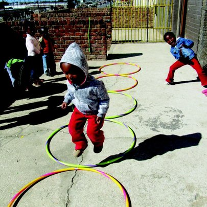 Children playing at one of our daycare centers