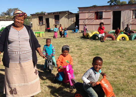 "Pumela is ""Mama"" for 40 children at daycare"