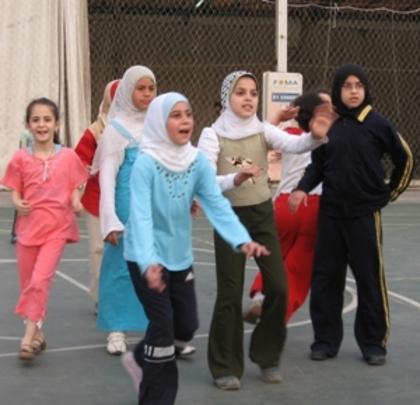 Girls in training