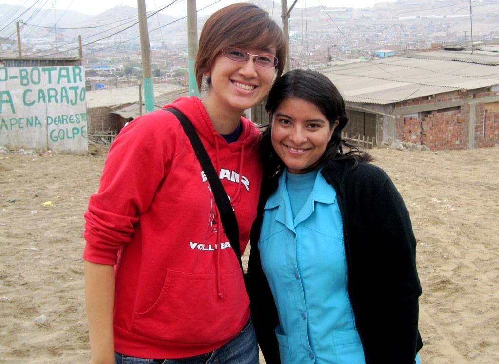 Cindy w/ Milagros, ASPAT-Peru