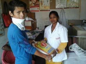 nutrition packs given to patients