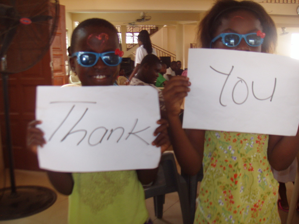 Children received spectacles and clothes