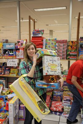 One of our elves shopping for board games