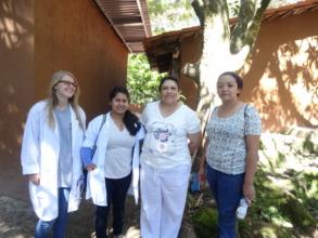 Intern preparing for village clinic